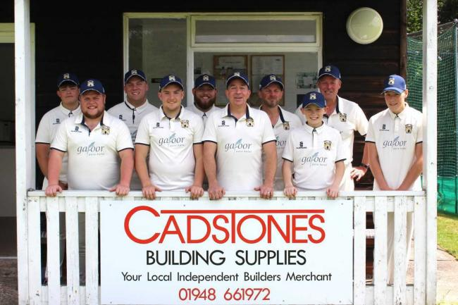 Coton CC with their sponsors Cadstones