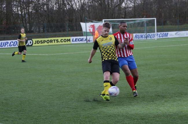 Stuart Dickin made his debut for Whitchurch Alport after his move from St Martins. Picture by Ian Stading