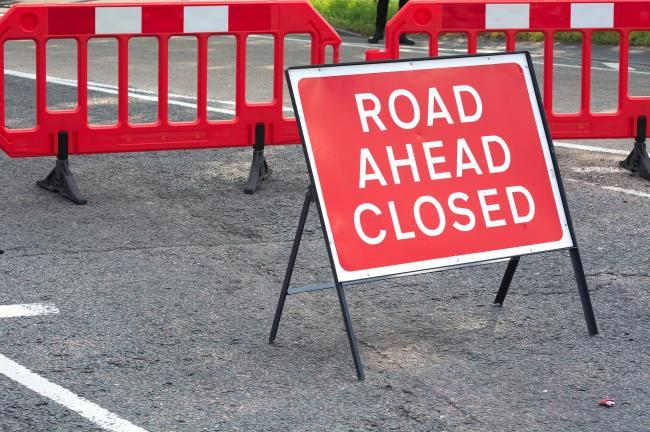 Picture of a road closed