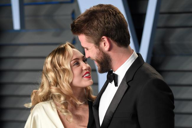 Miley Cyrus and Liam Hemsworth, who tied the knot in December last year