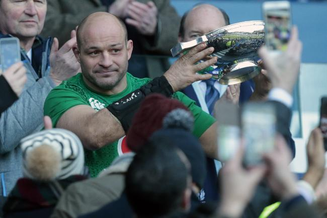 Ireland captain Rory Best celebrates beating Scotland in February