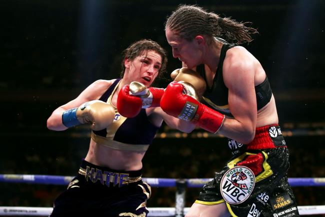 Katie Taylor (left) became undisputed lightweight champion with victory over Delfine Persoon in June (Nick Potts/PA).