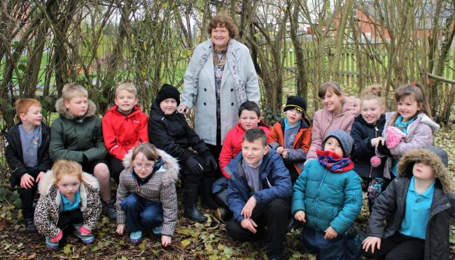 Peggy Mullock in the new Forest School
