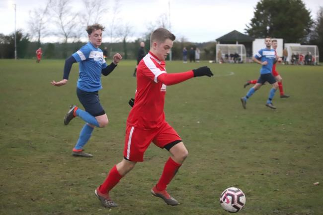 Jamie Parry in action for Prees in their defeat. Picture by Ian Stading