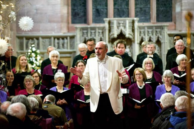 Martin Bussey lead a performance of Handel's Messiah before Christmas