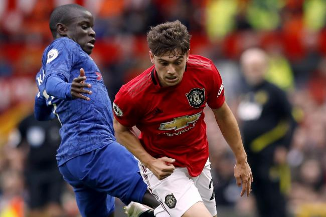 Kante (left) insists revenge for the defeat at Old Trafford is not a motivation for Chelsea