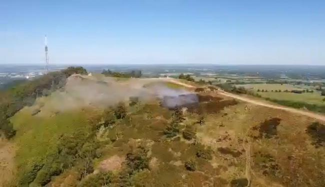 Footage of the fire from Sam Bagnall