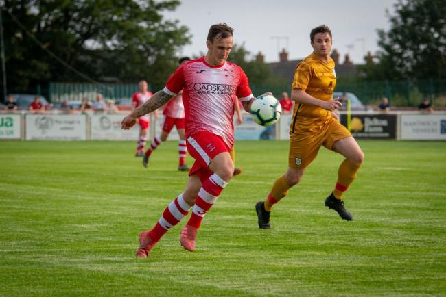 Alex Hughes in a friendly against Crewe Alexandra. Picture by Josh Pearce.