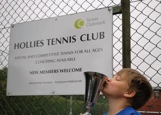 Bradley Hewitt outside the Hollies Tennis Club