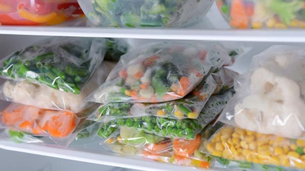 Whitchurch Herald: Free up unused space by freezing foods flat in bags and stacking them on top of each other. Credit: Getty Images / serezniy