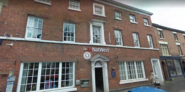 The former NatWest building in Wem