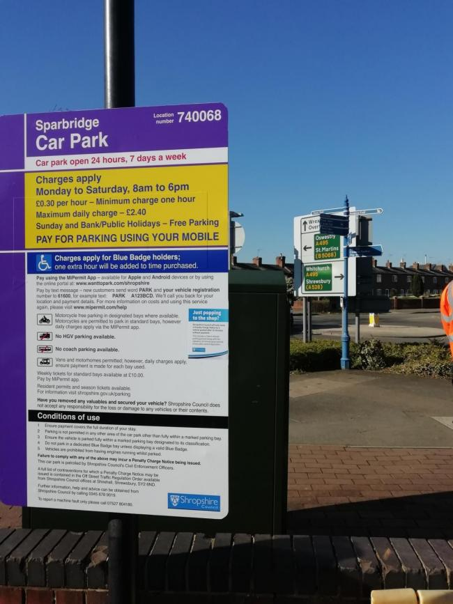 Free parking in Shropshire council car parks throughout December and into January