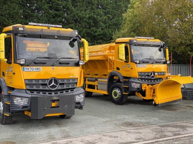 Two of Shropshire Council's new gritters
