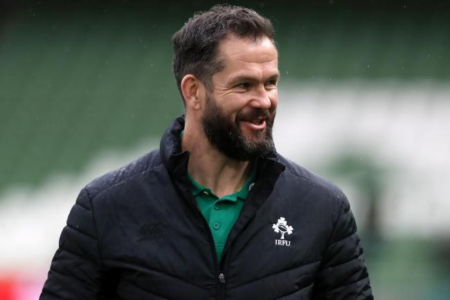 Ireland head coach Andy Farrell looks on