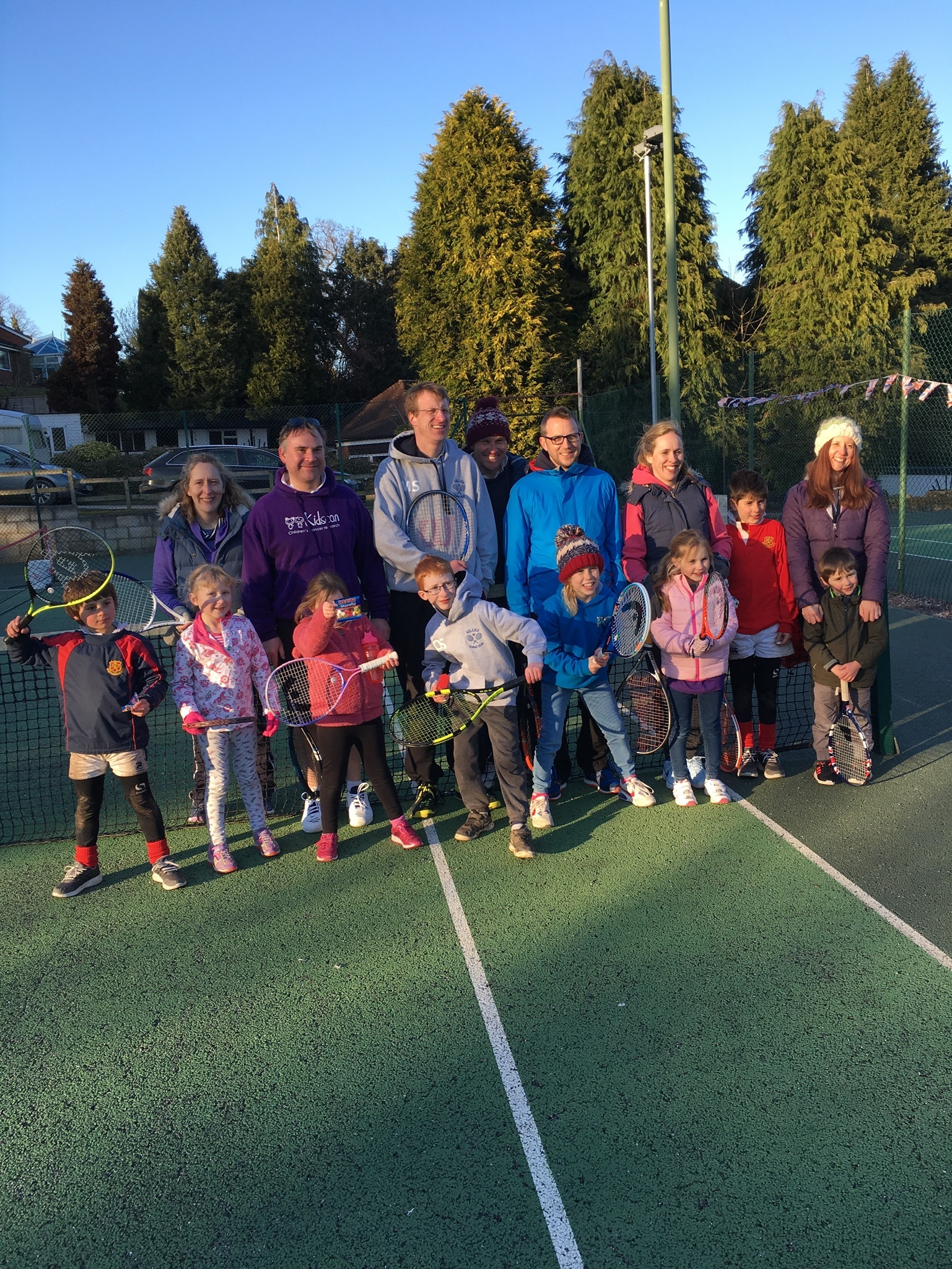 People of all ages enjoy tennis at The Hollies in Whitchurch