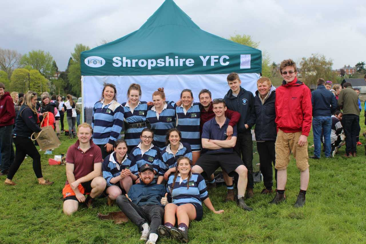 The Whitchurch YFC tug'o'war team