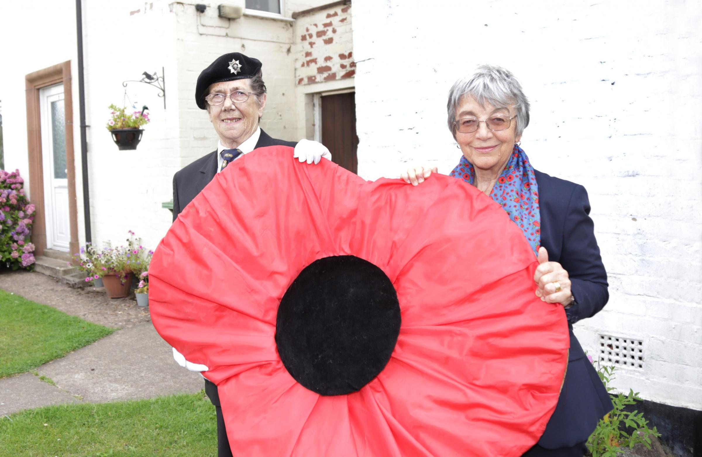Rose Snell and Christine Bebbington, representatives of the Whitchurch Royal British Legion branch.
