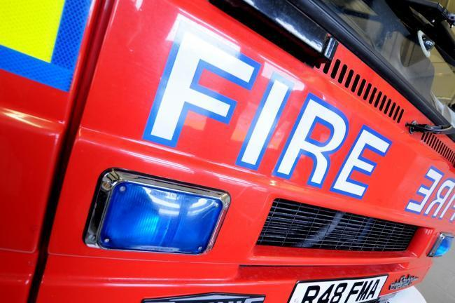 BLAZE: Two pumps from Bolton Central Fire Station attended the tractor fire