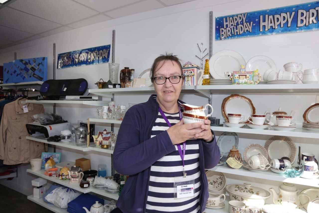 Headway volunteer Diane Tew is set to open the new B&M store in Whitchurch