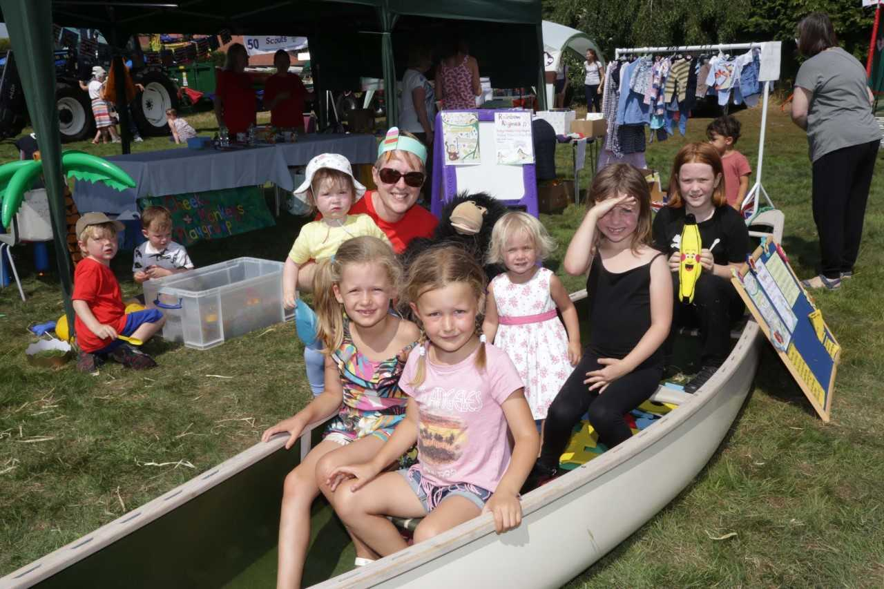 Youngsters enjoy Malpas Village Fair this summer