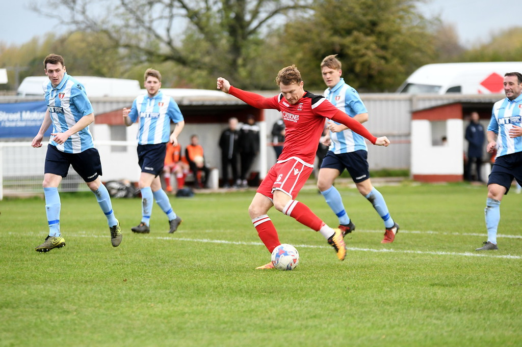 Alport's Dan Skelton strikes hiom the opener in the Reds' defeat to Remyca (Josh Pearce)