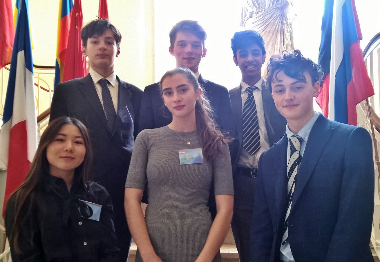 Pupils at the Model United Nations Conference