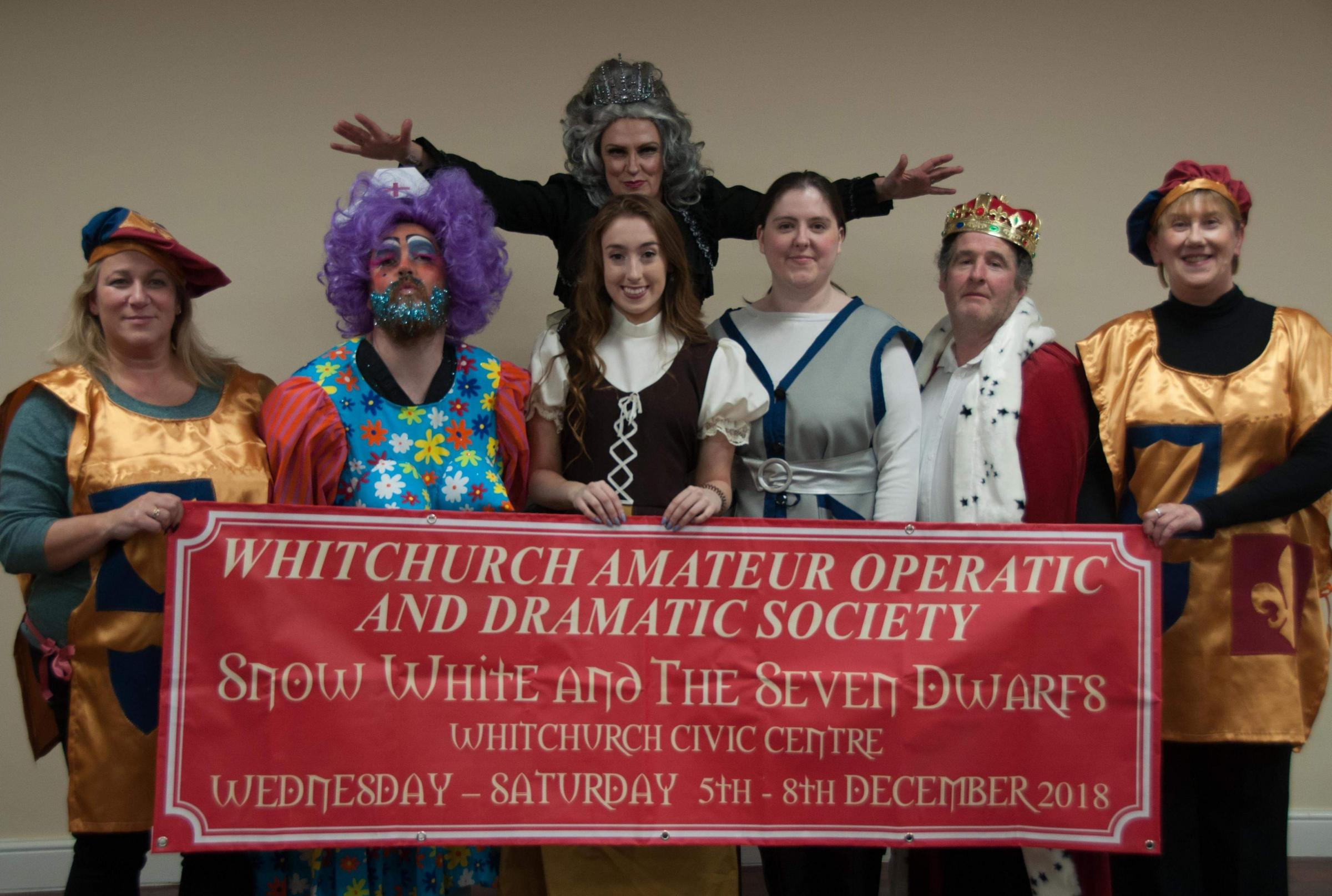 The Whitchurch Amatuer Operatic and Dramatic Society panto cast. Picture by WAODS