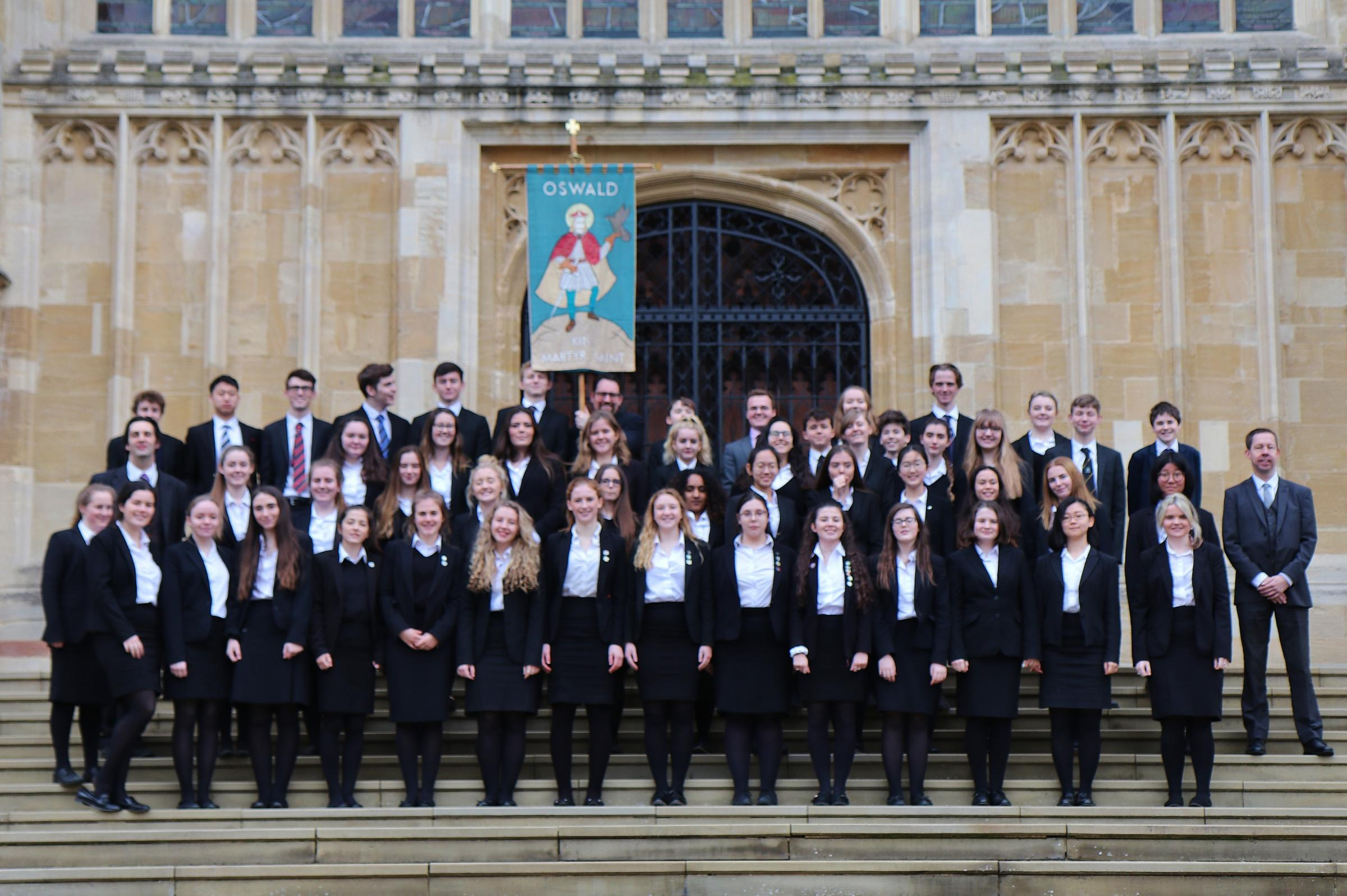 The choir at the West Door of St George's Chapel in Windsor
