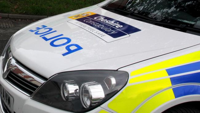 Library image of Cheshire Police car