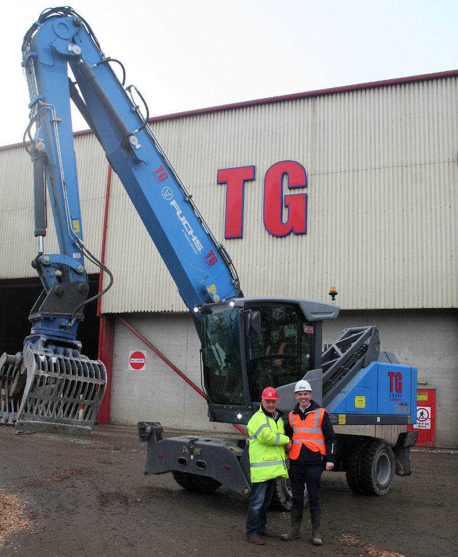 TG Group managing director Tudor Griffiths and Aidan McGeary, managing 	director of Blue Group, with the new machinery