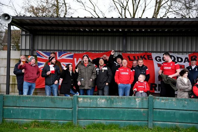 The Alport faithful on the road at Irlam. Picture by Josh Pearce