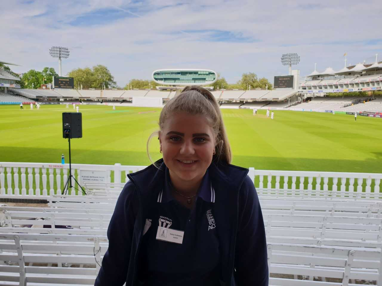 Holly Eccleston at Lords last year