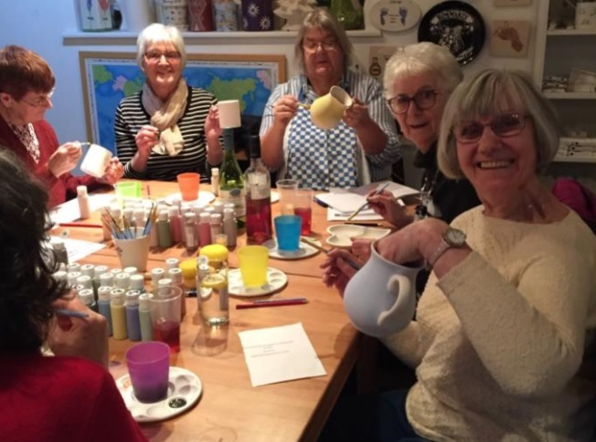 Whitchurch WI enjoyed a night at Doodle Alley in Whitchurch for their March meeting. 