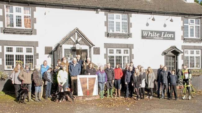 The Ash Magna Community outside the White Lion pub