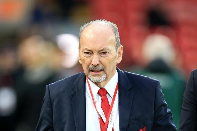 Liverpool chief executive Peter Moore visited an injured fan in hospital after the Champions League defeat to Napoli