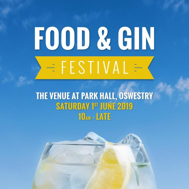 Food and Gin Festival June 1 at Park Hall