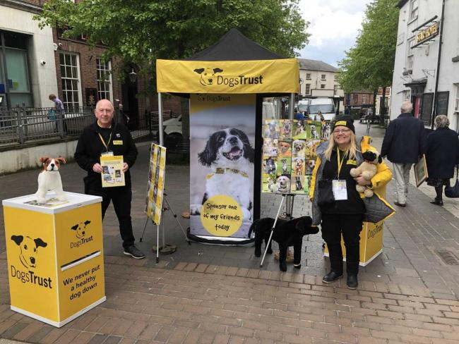 Mark Boyle and Denise Boyd from Dogs Trust in Whitchurch