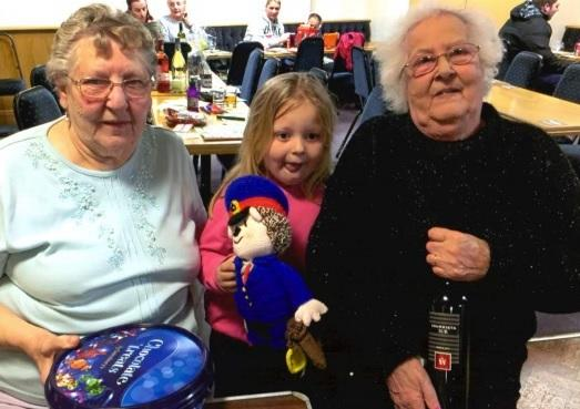 ALice McQuillin and Doreen Lloyd with her granddaughter