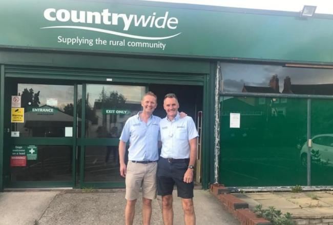 Andy Nelson and Tom Leonard in front of the former Countrywide Store